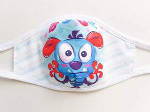 Kids Cotton Face Mask  -  Boo