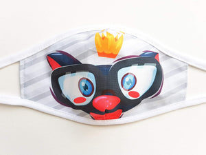 Kids Cotton Face Mask  -  Kitty Crown