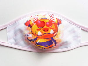 Kids Cotton Face Mask  -  Sweet Agent