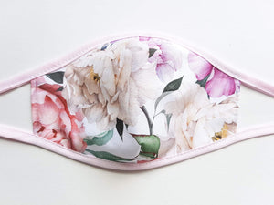 Womens and Teens Cotton Face Mask  -  Spring Flowers