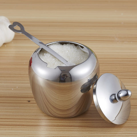 Stainless Steel Apple-shape Sugar Bowl - Gidli