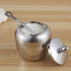 Image of Stainless Steel Apple-shape Sugar Bowl - Gidli