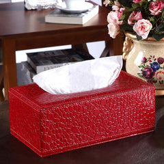 PU Leather Crocodile Pattern Tissue Box - Gidli