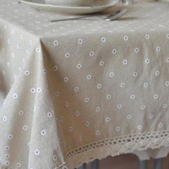 3 Styles Lace Linen Table Cloth - Gidli