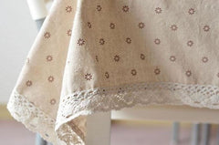 3 Styles Lace Linen Table Cloth