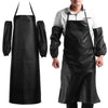 Image of Convenient Faux Leather Chef Apron - Gidli