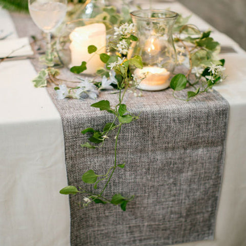 Table Runner Imitated Linen Rustic - Gidli