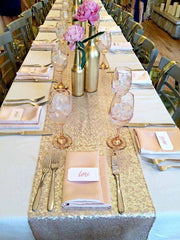 Gold Silver Sequin Table Runner For Wedding - Gidli