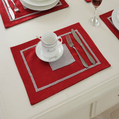 Diamante Table Runner Napkin Pillowcase