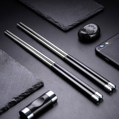 Stainless Steel Reusable Travel Chop sticks - Gidli