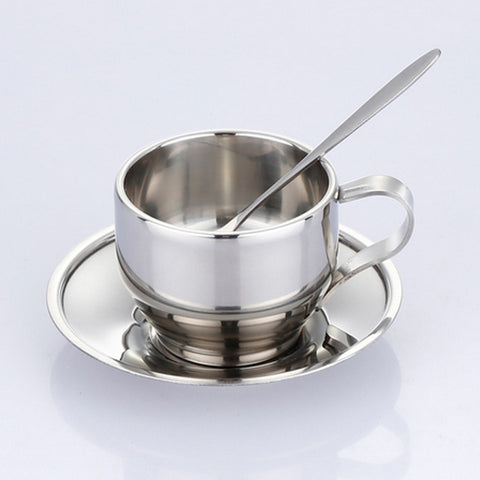 Stainless steel coffee cup saucer - Gidli