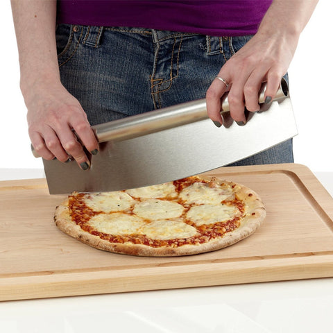 12 Inch Pizza Cutter Sharp Rocker Blade - Gidli