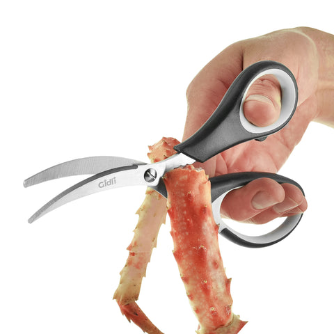 Kitchen Shears by Gidli - Lifetime Replacement Warranty- Includes Seafood Scissors As a Bonus - Heavy Duty Stainless Steel Multipurpose Ultra Sharp Utility Scissors. - Gidli