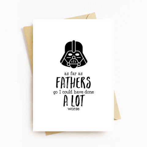 Star Wars Fathers Day Card