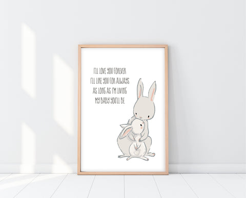 I'll Love You Forever Sign | Woodland Nursery Wall Art | Ollie + Hank