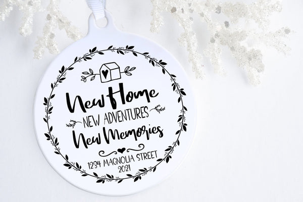 New Home Christmas Ornament | New Home, New Adventures, New Memories | Ollie + Hank