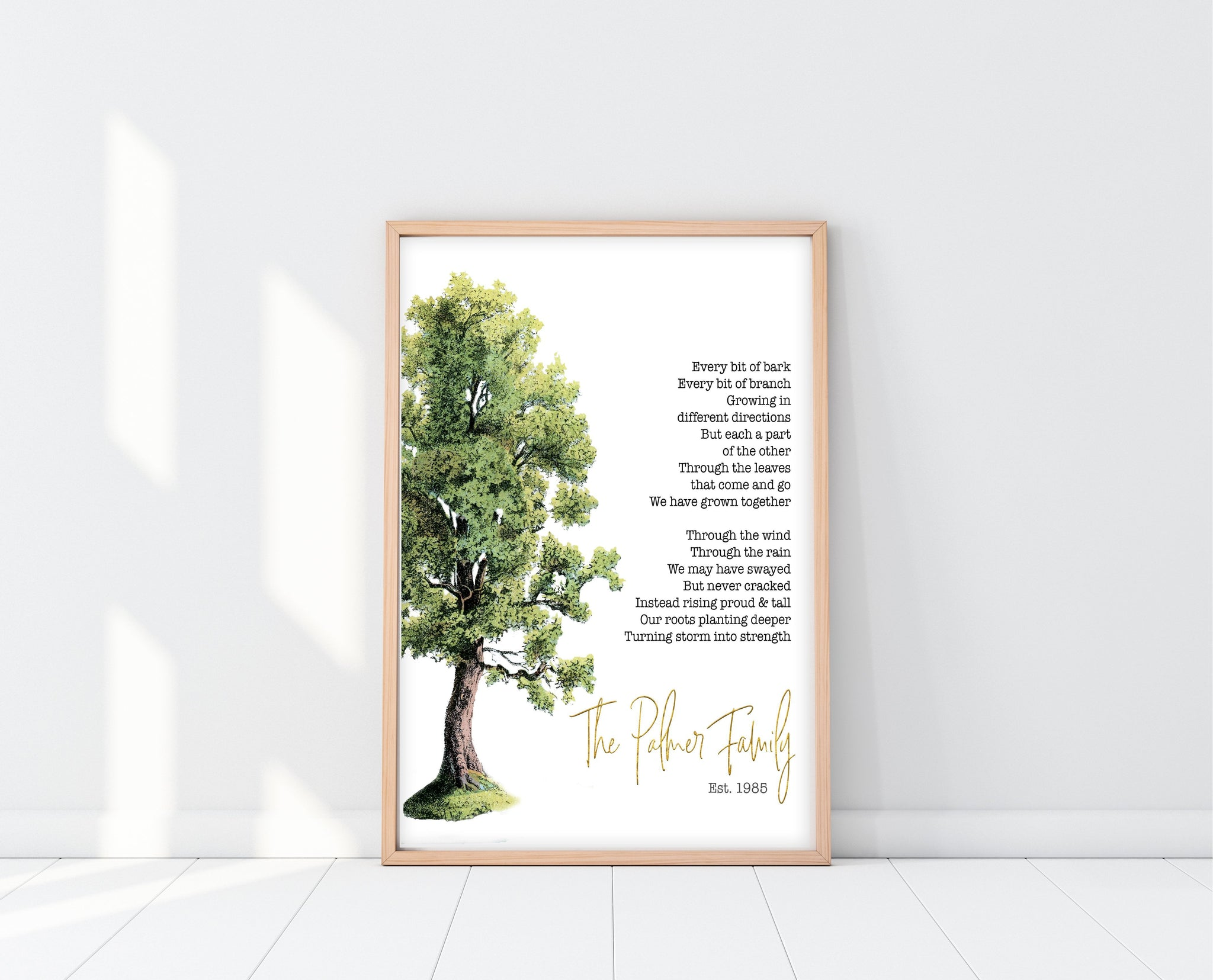 Anniversary Gift For Parents | Family Tree Poem | Ollie + Hank