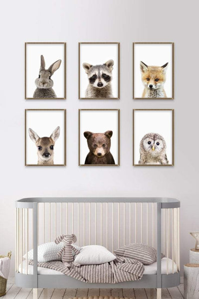 Baby Animals Nursery Art | Woodland Animals | Ollie + Hank
