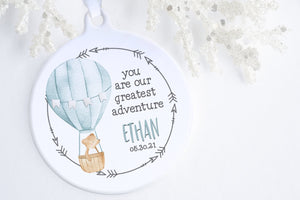 Baby's First Christmas Ornament 2020 | Our Greatest Adventure Ornament | Ollie + Hank