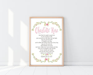 Baptism Gifts For Girls | May There Be Angels Print | Ollie + Hank