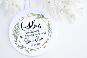 Baptism Gifts For Godfather | Godfather Christmas Ornament | Ollie + Hank