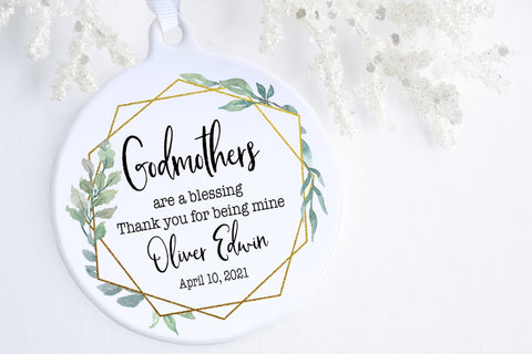 Baptism Gifts For Godmother | Godmother Christmas Ornament | Ollie + Hank