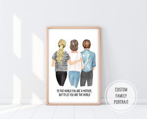 Birthday Gift For Mom | Custom Mom Print | Ollie + Hank