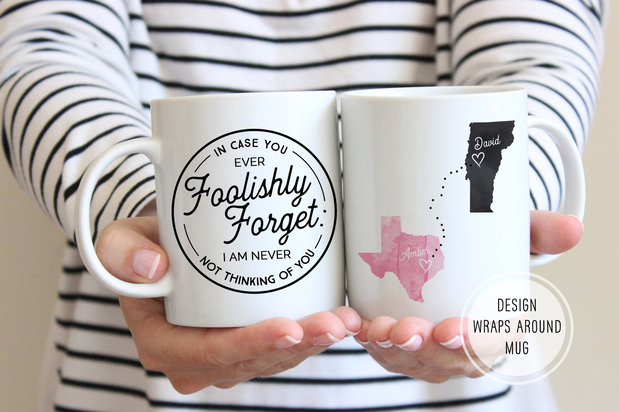 Birthday Gifts For Long Distance Boyfriend | Long Distance Mug | Ollie + Hank