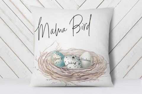 Personalized Family Nest Pillow | Birthday Gift For Mom From Kids