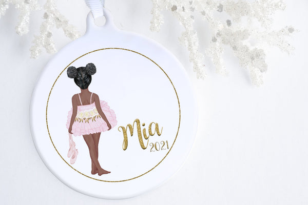 Black Ballerina Ornament | Little Ballerina Ornament | Ollie + Hank