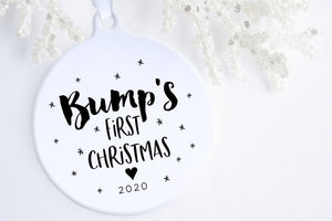 Bump's First Christmas Ornament | Christmas Pregnancy Announcement | Ollie + Hank