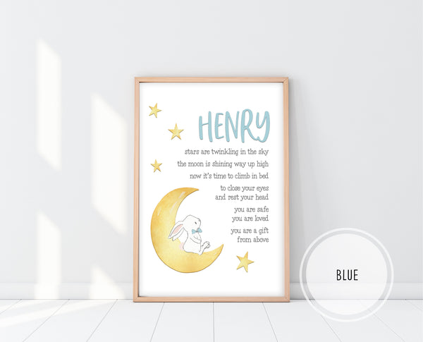 Christening Gift For Boy | Bedtime Blessing Print | Ollie + Hank
