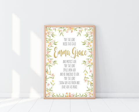 Christening Gifts For Girls | Bless This Child Print | Ollie + Hank