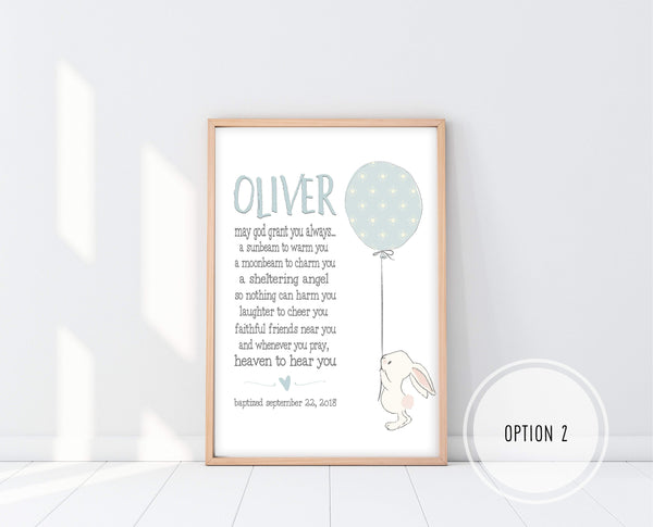 Christening Gifts From Godparents | Irish Blessing Nursery Print | Ollie + Hank