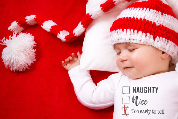 Christmas Onesie Newborn | Naughty Or Nice | Ollie + Hank