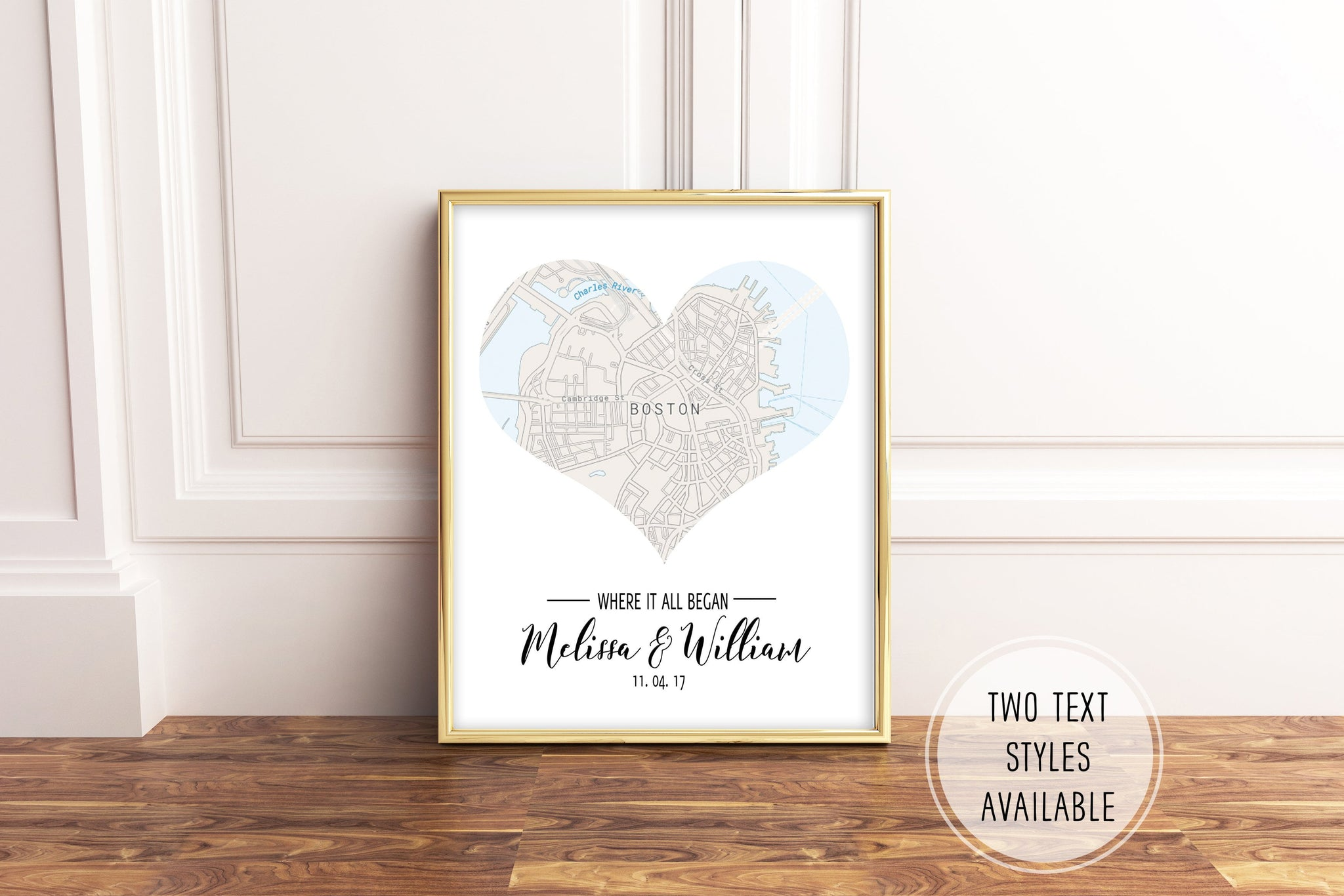 Personalized Heart Map Art