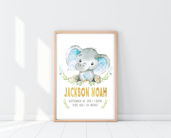 Elephant Nursery Art Boy Rooms | Elephant Nursery Decor | Ollie + Hank