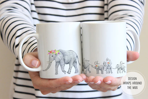 Elephant Mug | Birthday Gift For Mom From Kids | Ollie + Hank