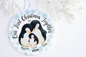First Christmas Ornament Baby | Penguin Family Ornament | Ollie + Hank