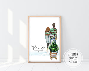 First Christmas Together Gifts | First Christmas Together Print | Ollie + Hank