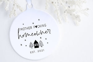 First Time Homeowner Gift | Mother F*cking Homeowner Ornament | Ollie + Hank