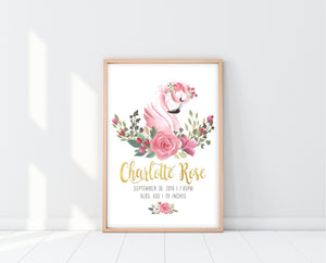 Flamingo Nursery Decor | Flamingo Name Print | Ollie + Hank