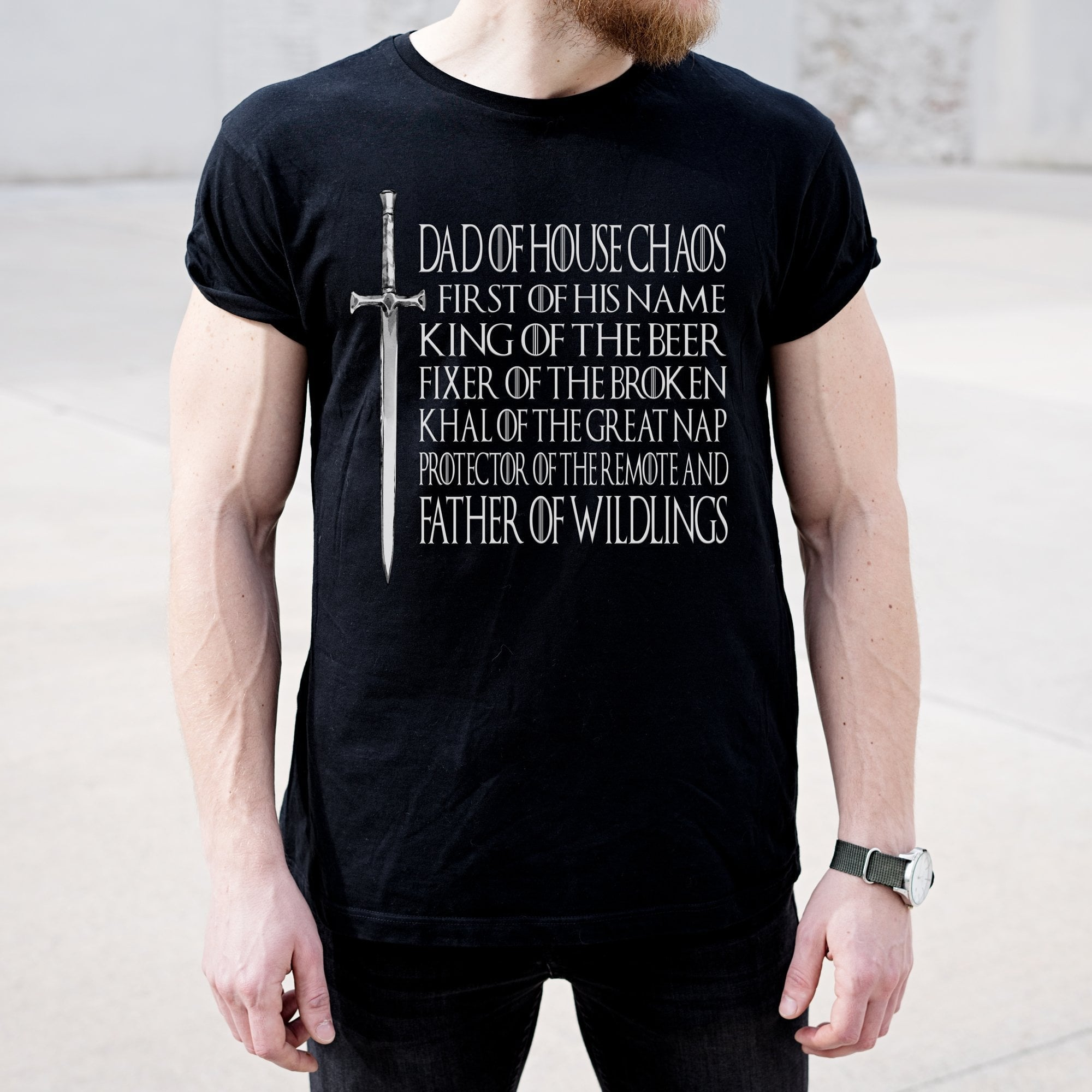 Game Of Thrones T Shirt | Dad Of House Chaos | Ollie + Hank