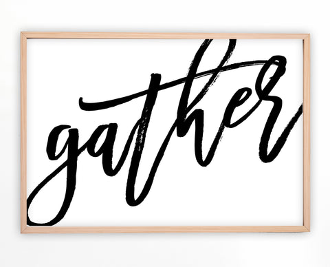 Gather Sign | Farmhouse Wall Art | Ollie + Hank