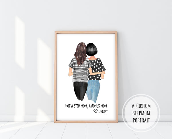 Gift For Step Mom | Step Mom Print | Ollie + Hank