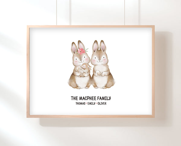 Gift For Mom From Baby | Bunny Family Print | Ollie + Hank