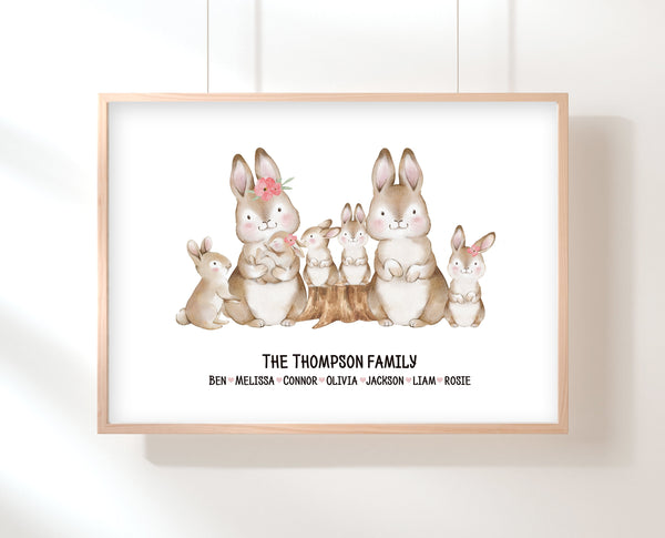 Gift For Mom From Kids | Bunny Family Print | Ollie + Hank