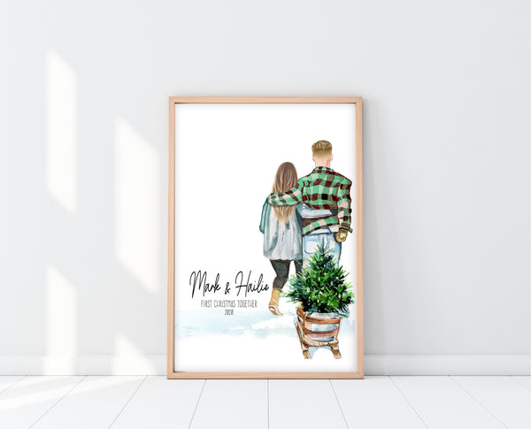 Gifts For First Christmas Together | First Christmas Together Print | Ollie + Hank