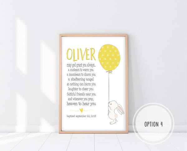 Godson Gifts | Irish Blessing Nursery Print | Ollie + Hank