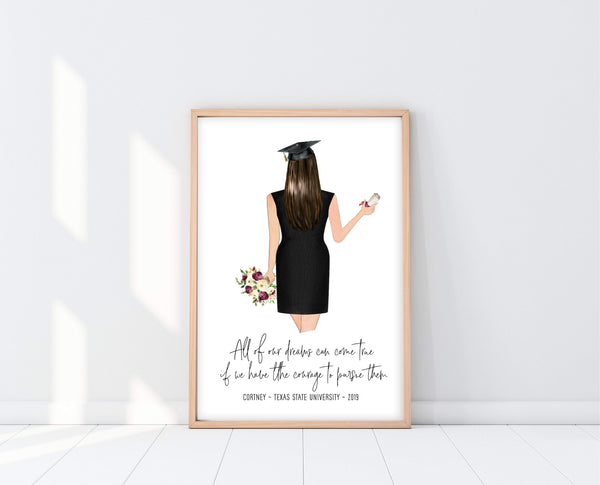 Graduation Gift Ideas For Her | Graduation Print | Ollie + Hank